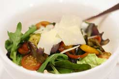 Roasted Vegetable Salad with sun blush Tomatoes, Basil and Parmesan Cheese
