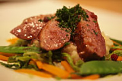 Grilled Duck Breasts with Orange and Redcurrant Sauce